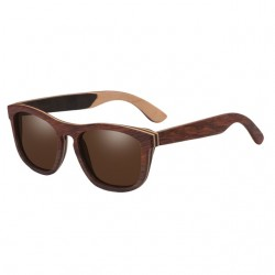 Drewniany Design Spolaryzowane Lustrzane Soczewki Okulary Przeciwsłoneczne Unisex