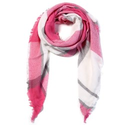 VIANOSI Women Scarf Winter Triangle Scarf Brand Designer Women Shawl Cotton Foulard Plaid Scarves Bl