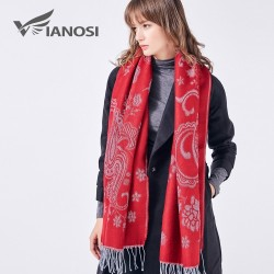VIANOSI Winter Scarf Women Gorgeous Wrap Warm Blanket Flower Sjaal Thick Foulard Brand Shawls and S