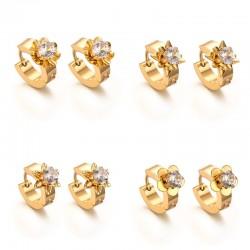 Gold Zircons Ohrstecker