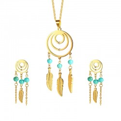 Jonas Dreamcatcher Collar y Pendientes