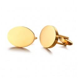 Ovale Form Gold Manschettenknöpfe