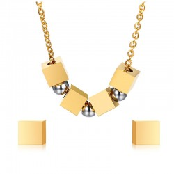 Squares & Balls Stylish Jewellery Set