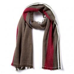Gestreifter Winter Schal Weicher Schal