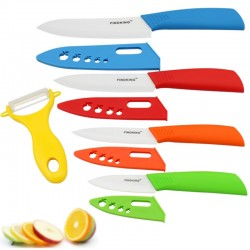 "Ceramic Knife Set 3"" 4"" 5"" 6"" inch+ Peeler+Covers"