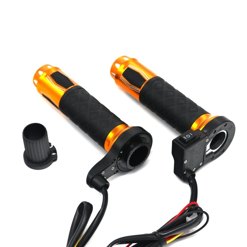 """22mm 7/8\\"""" Aluminum 12V Motorcycle Electric Heated Handlebar Grips"""