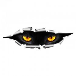 3D kocie oczy - winylowa samochodowa naklejka - wodoodporna