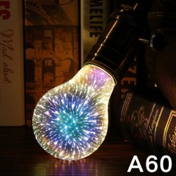 LED Light E27 3D Decorative Bulb 110V 220V ST64 G95 A60 G80 G125