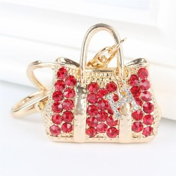 Rote Kristall Handtasche Schlüsselbund