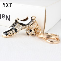 Crystal football shoe & ball - Keychain