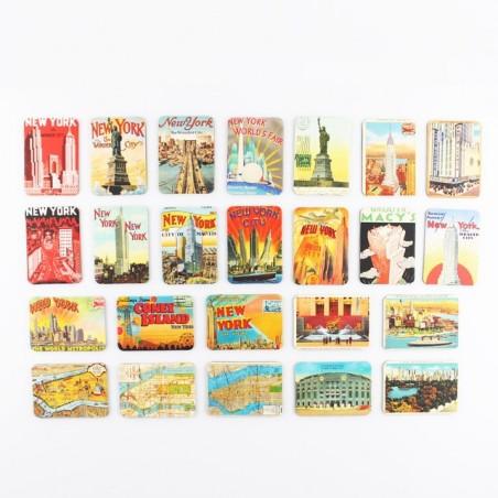 New York Theme Fridge Magnets 24 pcs