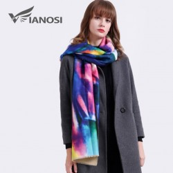 VIANOSI Fashion Winter Scarf Women Shawl Printing Wrap Luxury Scarves Warm Wool Cashmere Brand Echar