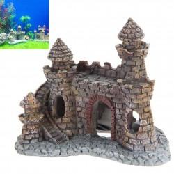 Château Décoratif pour Aquarium de Résine