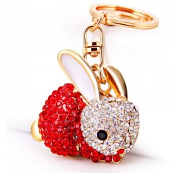 Full Crystal Rabbit Keychain Keyring