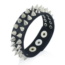Spikes - rivets gothic leather bracelet - unisex