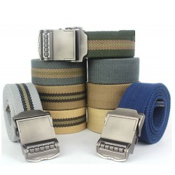 Casual Metal Buckle Canvas Men's Belt