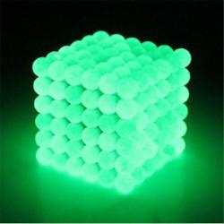 Boules Magnétiques en Néodyme de 5 mm 216 pièces Glow in the Dark