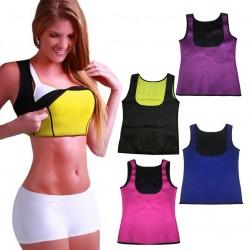 Neoprenowy Body Shaper Odchudzająca Sportowa Kamizelka Koszulka Rozmiar Plus