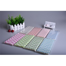 Colorful big polka dots - paper drinking straws 25 pieces
