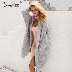 Casual Knitting Long Cardigan Loose Jumper