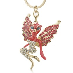 Catwoman Crystal Wings Keychain Keyring