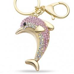 Kristall Delphin Schlüsselanhänger