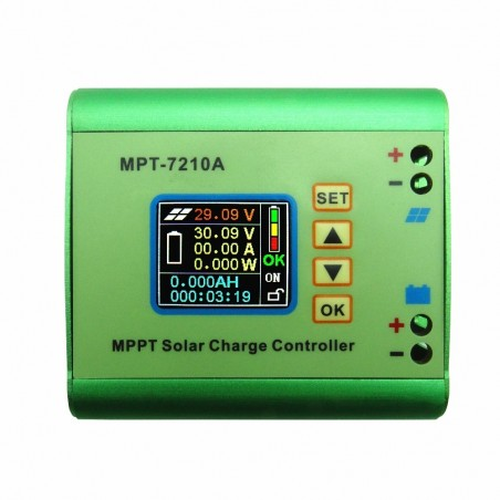MPT-7210A Aluminum Alloy MPPT Solar Panel Charge Controller & LCD Display