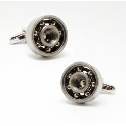 Bearing design metal cufflinks