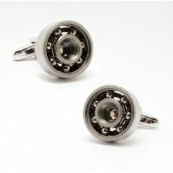 Manschettenknöpfe aus Metall mit Lagerdesign