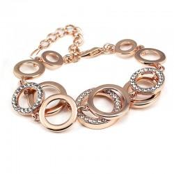 Bracelet multicouche de strass symmetrique