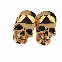 Gold Skelett Schädel Kopf Manschettenknöpfe