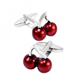 Red cherry - cufflinks