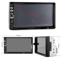 Bluetooth - Radio de coche DIN 2 - Pantalla táctil LCD de 7 '' pulgadas - Reproductor de MP3 MP5 - MirrorLink