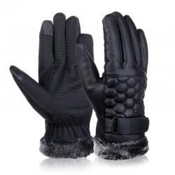 Gants retro renforcés de cuir pour touch screen