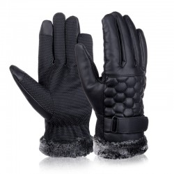 Retro Thickened Leather Touchscreen Anti-skid Gloves