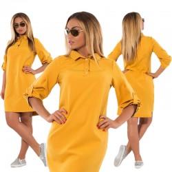 Rozmiar Plus Casual Sukienka Luźna Prosta Bluza