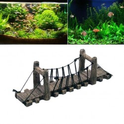 Aquarium Fish Tank Resin Tower Bridge