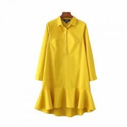 Casual Mini Sukienka Z Falbankami Tunika