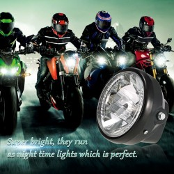 "7"" Motorcycle Headlight Round LED Turn Signal Indicators"