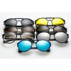 Unisex Modne Vintage Steampunk Okulary Przeciwsłoneczne UV400