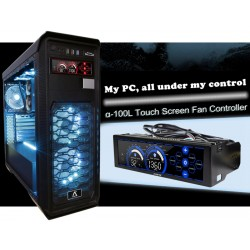 Touch Screen 6 Channels Computer Fan Speed Control Water CPU Cooler