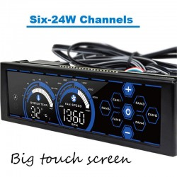 Fan speed controller for computer - touch screen - 6 channels