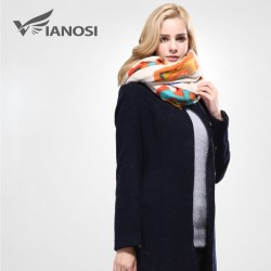 VIANOSI European Style Bandana Winter Scarf Women Warm Wrap Brand Shawls and Scarves Top Quality C