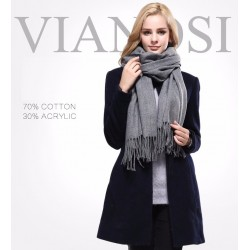 VIANOSI New Luxury Scarf Winter Women Scarf Female Cotton Solid Scarf Best Quality Pashmina Studio