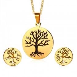 Drzewo Życia Kolczyki & Naszyjnik Komplet Biżuterii