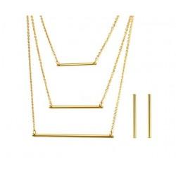 Trzywarstwowy Naszyjnik & Kolczyki Komplet Biżuterii