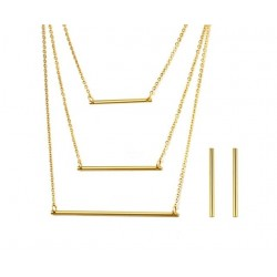 3 Layer Necklace & Earrings Jewellery Set