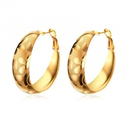 Vnox Hoop Earrings Big Round Earrings for Women Brincos Unique Gold-color Large Earrings Jewelry Gif