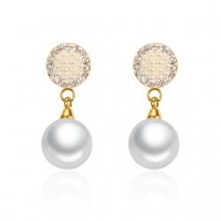 Vnox Imitation Pearl Earrings for Women Fashion Crystal Drop Earrings for Female Wedding Jewelry Mul