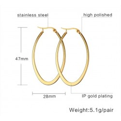 Simple Big Hoops Earrings